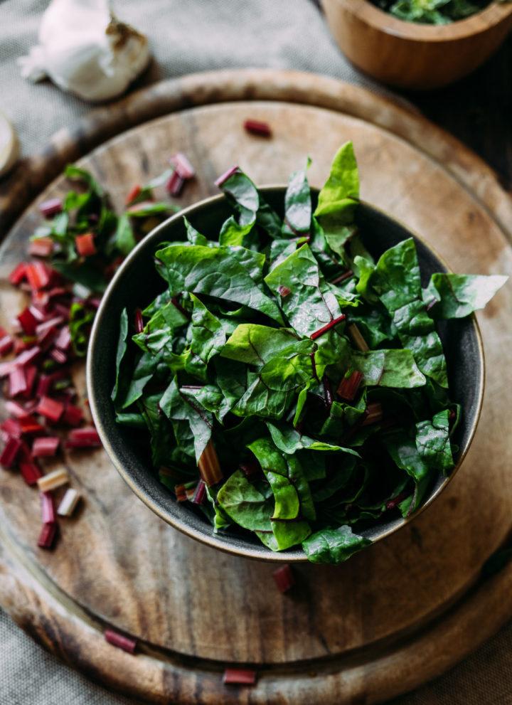 Swiss chard and fresh herbs