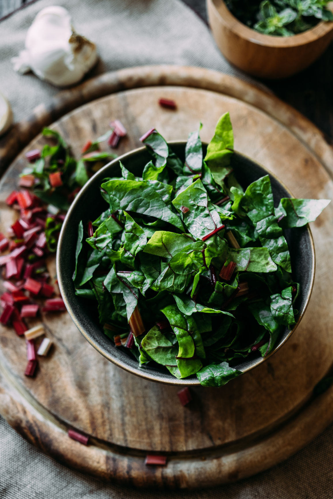 Swiss chard and fresh herbs